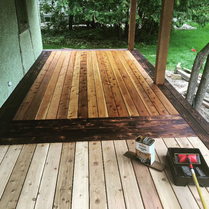 Outdoor wood lubrication and sealing